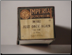 Just Once Again - Imperial Piano Roll.  $2.50 plus S/H