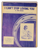 I Can't Stop Loving You - Sheet Music.  Copyright 1958.  $2.00 plus S/H