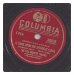 It Came Upon The Midnight Clear / Joy To The World by the Lyn Murray Singers on Columbia.  $3.00 plus S/H