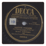 Easter Parade / I've Got Plenty To Be Thankful For by Bing Crosby on Decca.  $3.00 plus S/H