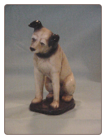 Reproduction Small RCA Nipper Plaster Dog.  $22.00 plus S/H