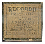 Romance, Played by M. Oberndarfer on a Recordo roll.  $4.00 plus S/H