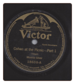 Cohen at the Picnic Part 1 and Part 2 by Monroe Silver on Victor.  $3.50 plus S/H