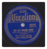 Old Age Pension Check /  Haven of Dreams by Roy Acuff on Vocalion.  $2.50 plus S/H