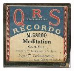 Meditation, Op 72, No 5, Written by Tschaikowsky, played by Marguerite Volavy on a Recordo roll.  $4.00 plus S/H