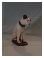 Reproduction Mid-size RCA Nipper Plaster Dog.  $30.00 plus S/H